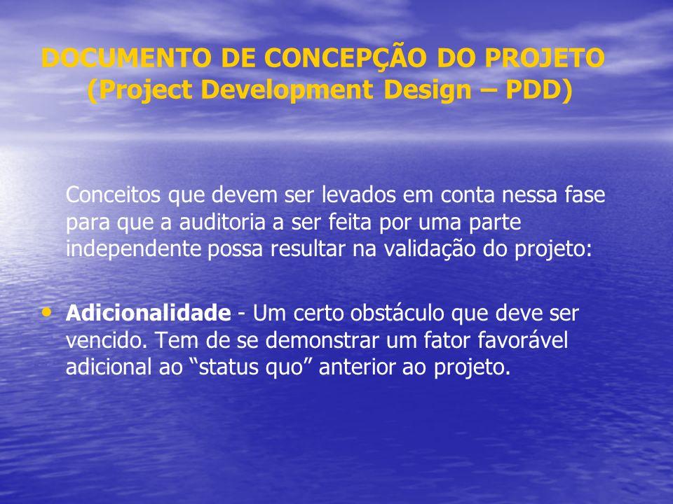 DOCUMENTO DE CONCEPÇÃO DO PROJETO (Project Development Design – PDD)