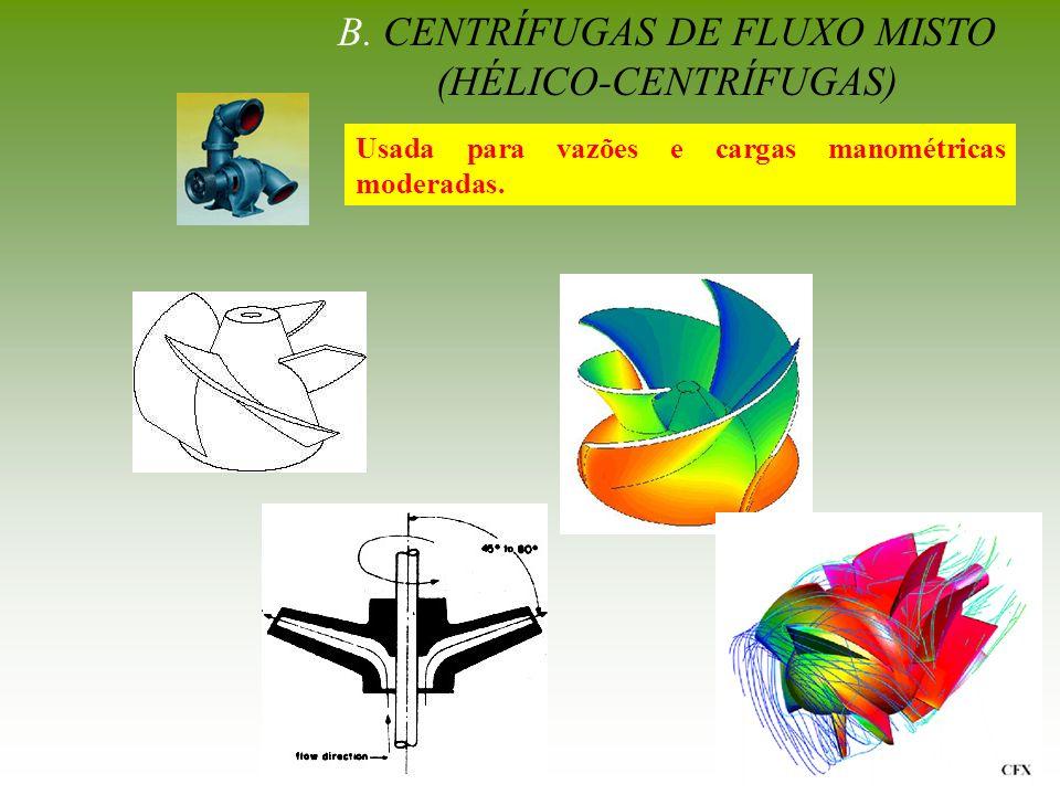 B. CENTRÍFUGAS DE FLUXO MISTO (HÉLICO-CENTRÍFUGAS)