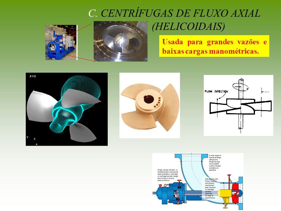 C. CENTRÍFUGAS DE FLUXO AXIAL
