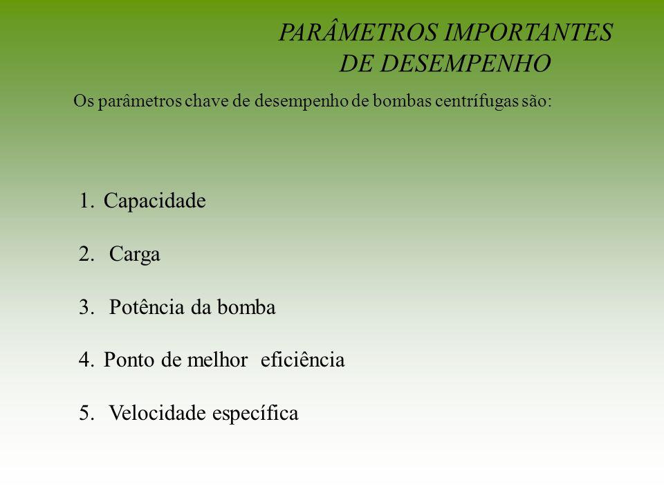 PARÂMETROS IMPORTANTES DE DESEMPENHO