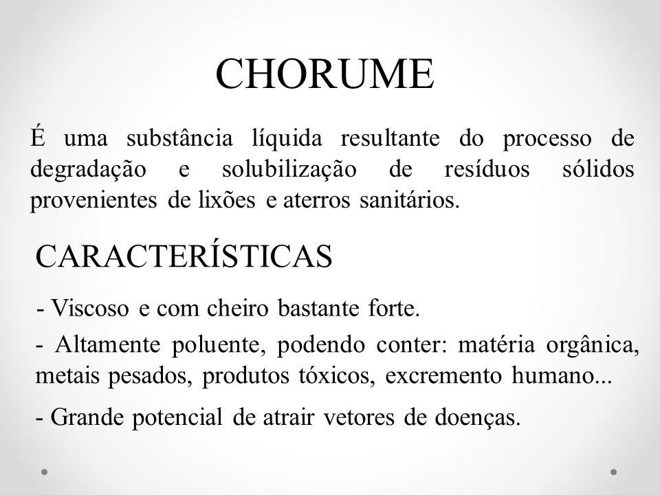 CHORUME CARACTERÍSTICAS