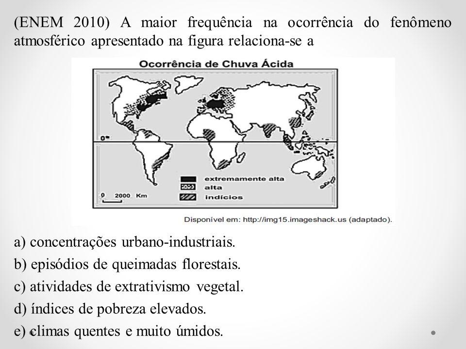 (ENEM 2010) A maior frequência na ocorrência do fenômeno atmosférico apresentado na figura relaciona-se a a) concentrações urbano-industriais.