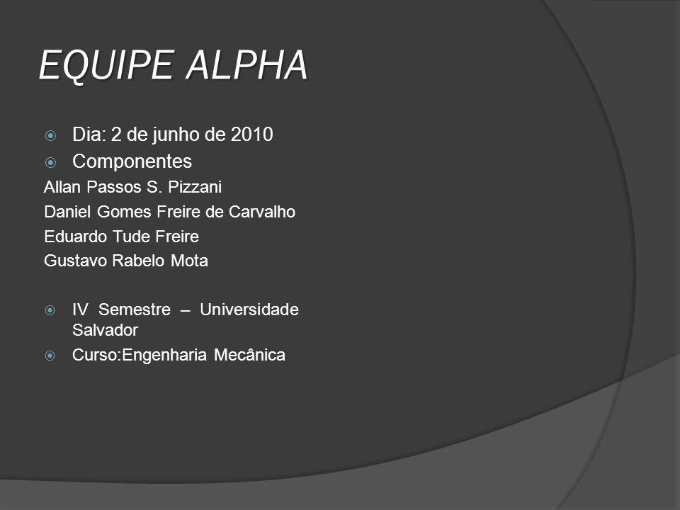 EQUIPE ALPHA Dia: 2 de junho de 2010 Componentes