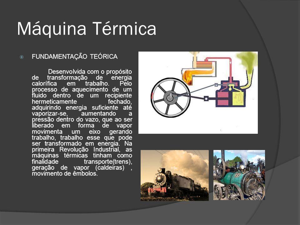 Máquina Térmica FUNDAMENTAÇÃO TEÓRICA