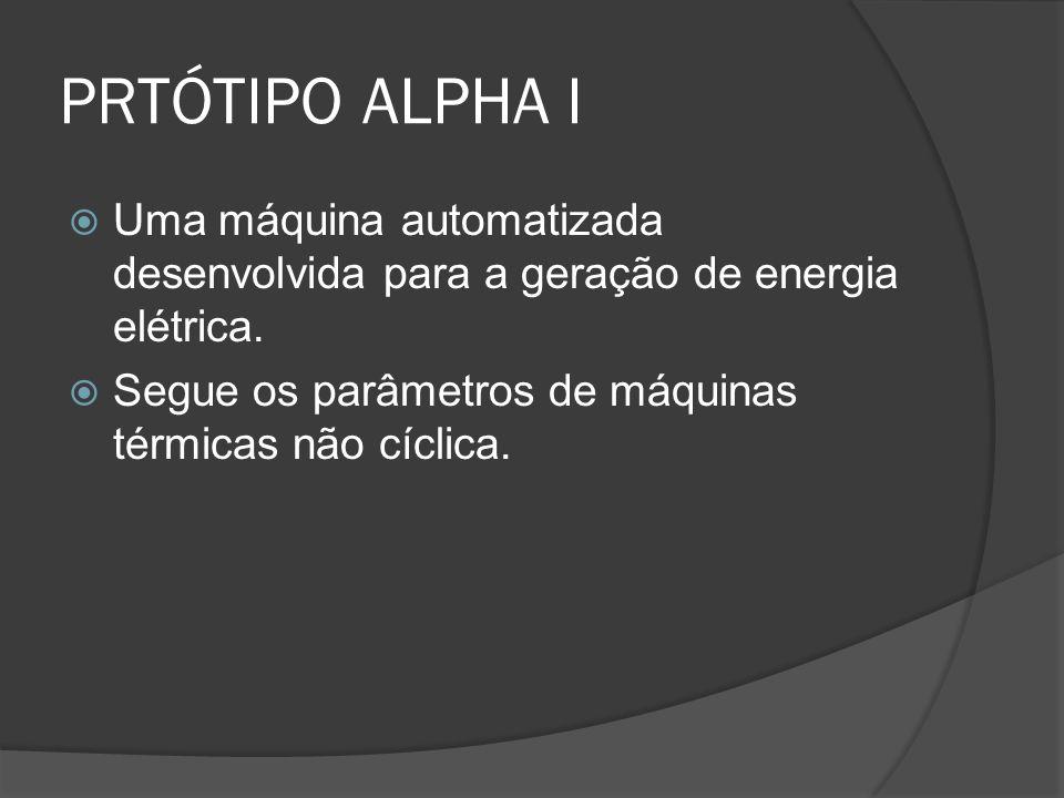 PRTÓTIPO ALPHA I Uma máquina automatizada desenvolvida para a geração de energia elétrica.