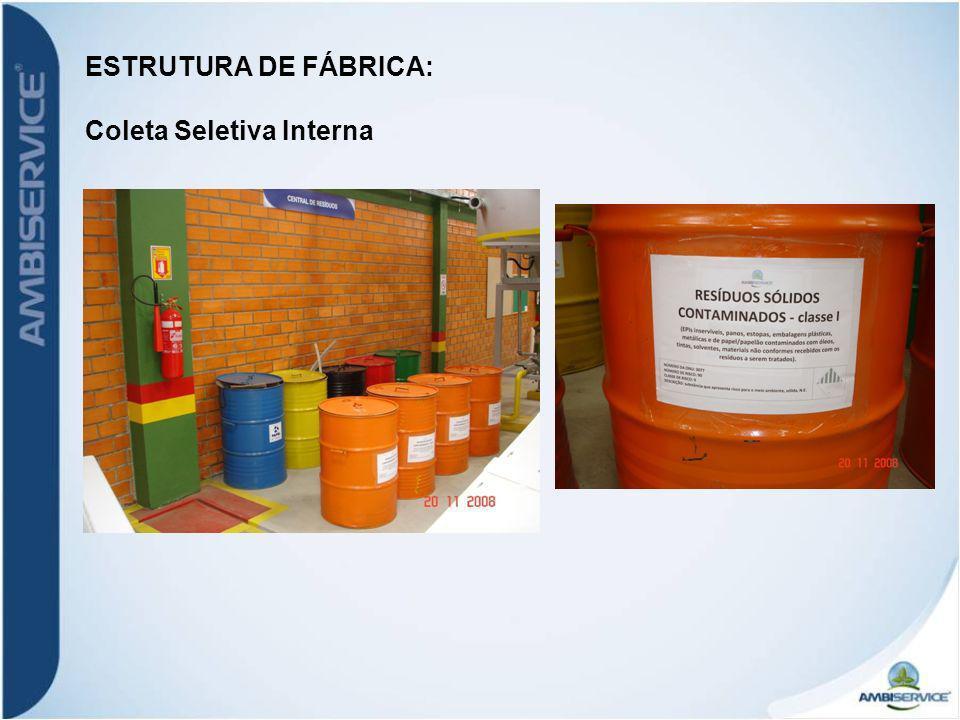 ESTRUTURA DE FÁBRICA: Coleta Seletiva Interna