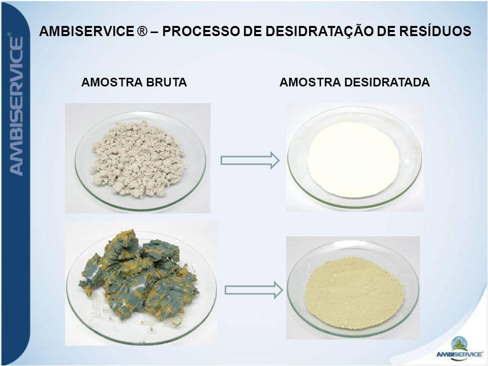 AMBISERVICE ® – PROCESSO DE DESIDRATAÇÃO DE RESÍDUOS