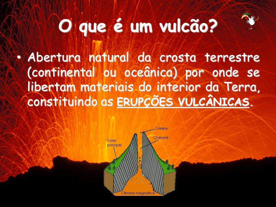 O que é um vulcão