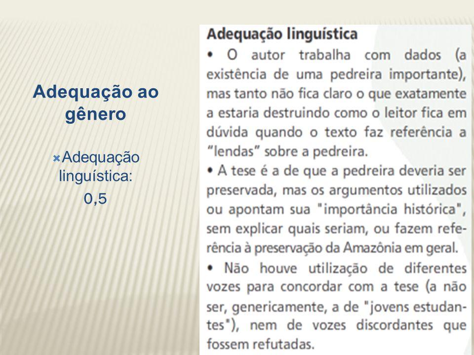 Adequação linguística: