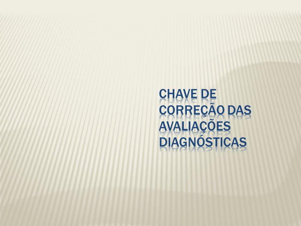 Chave de Correção das Avaliações Diagnósticas