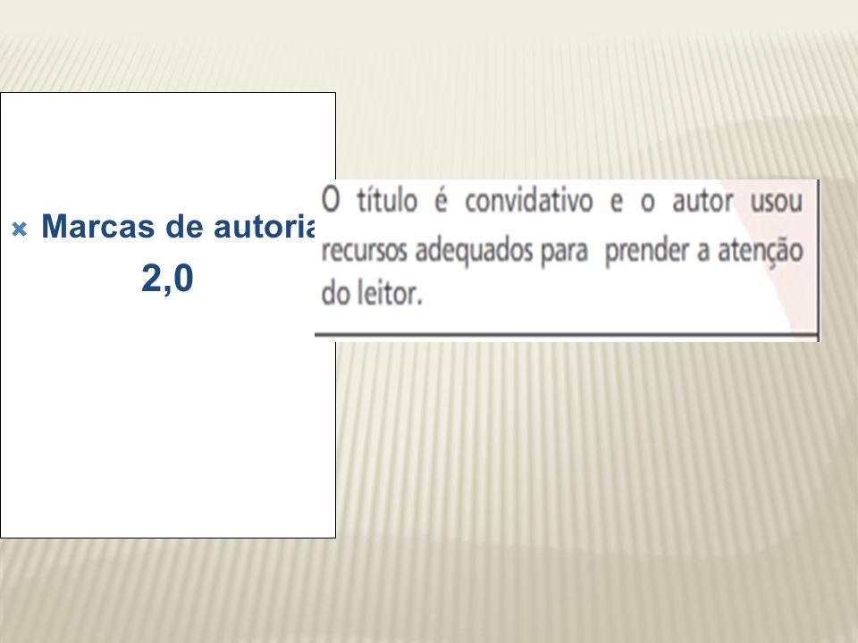 Marcas de autoria 2,0