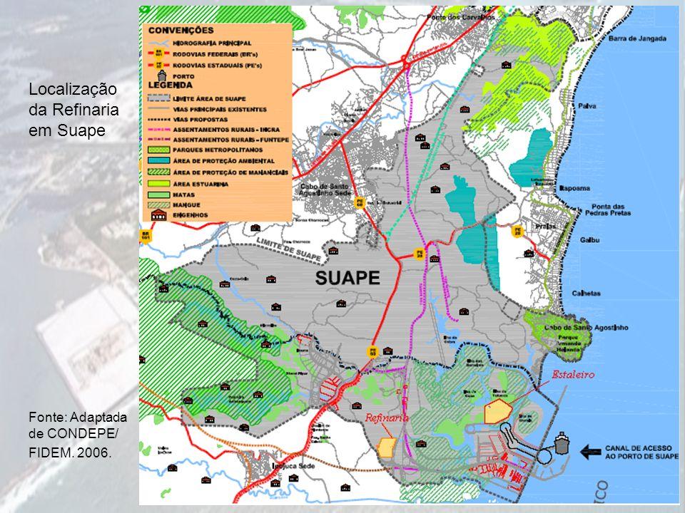 Localização da Refinaria em Suape
