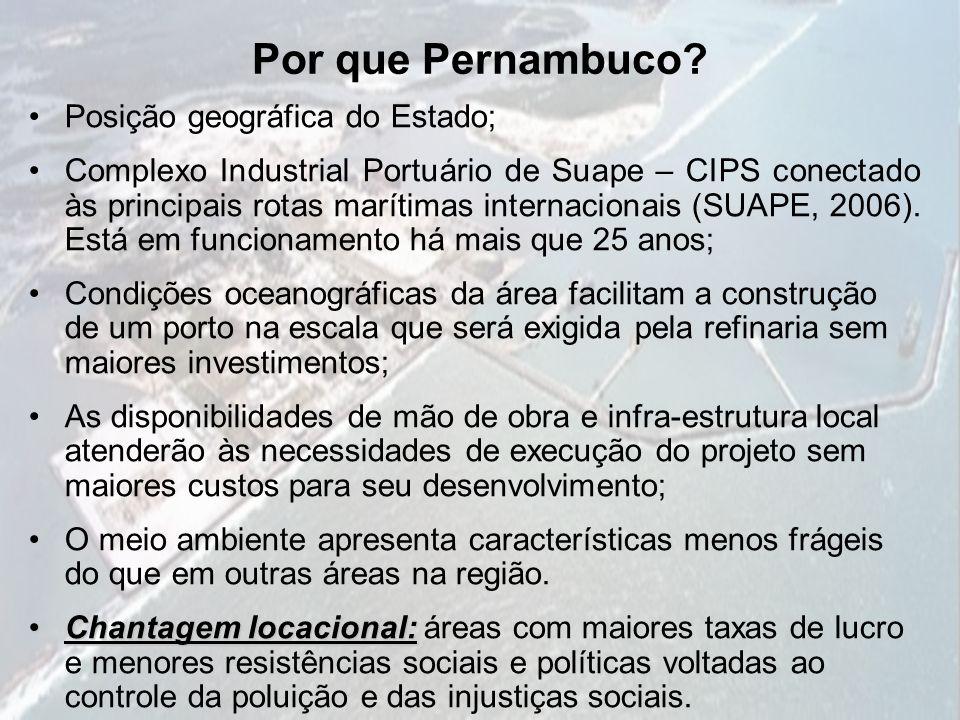 Por que Pernambuco Posição geográfica do Estado;