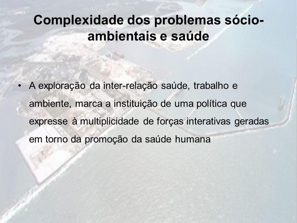 Complexidade dos problemas sócio-ambientais e saúde