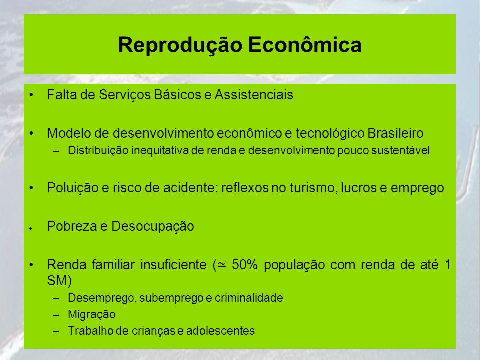Reprodução Econômica Falta de Serviços Básicos e Assistenciais