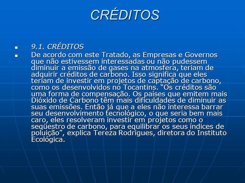 CRÉDITOS 9.1. CRÉDITOS.