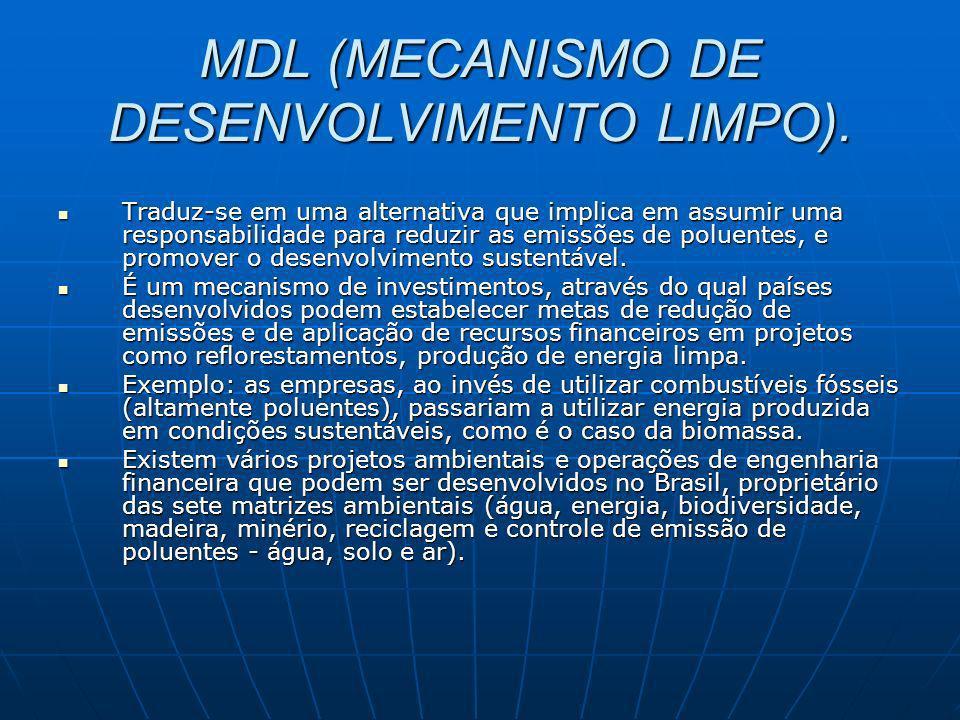 MDL (MECANISMO DE DESENVOLVIMENTO LIMPO).