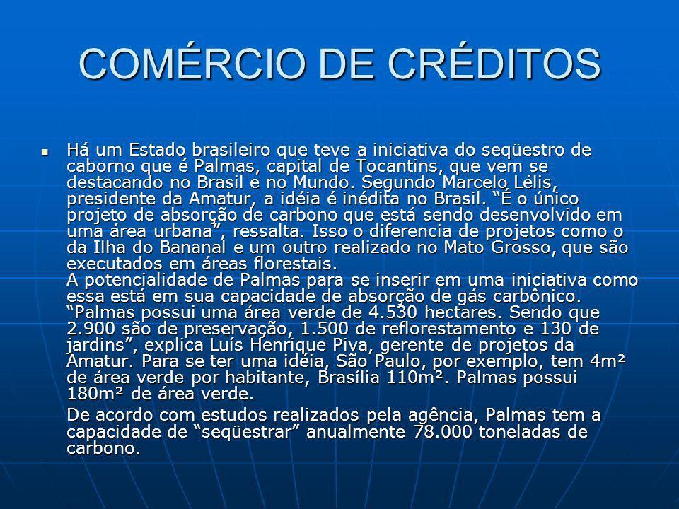 COMÉRCIO DE CRÉDITOS