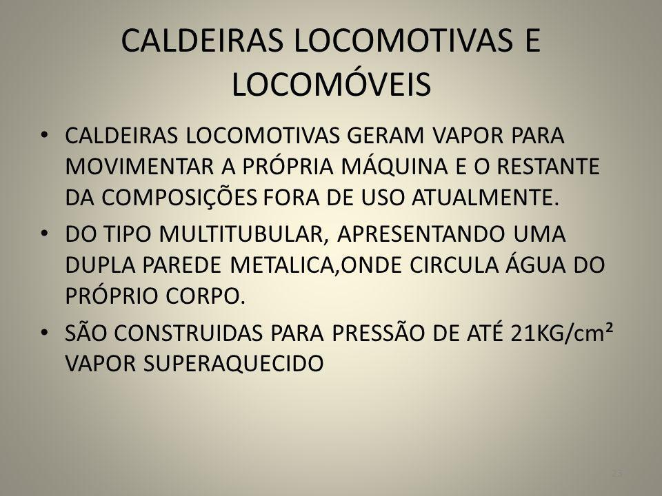 CALDEIRAS LOCOMOTIVAS E LOCOMÓVEIS