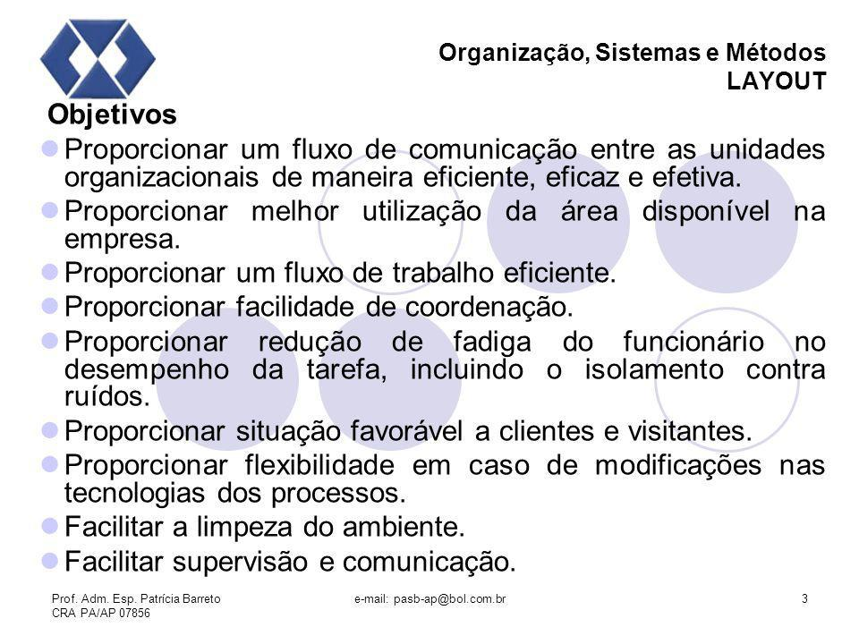 Organização, Sistemas e Métodos LAYOUT