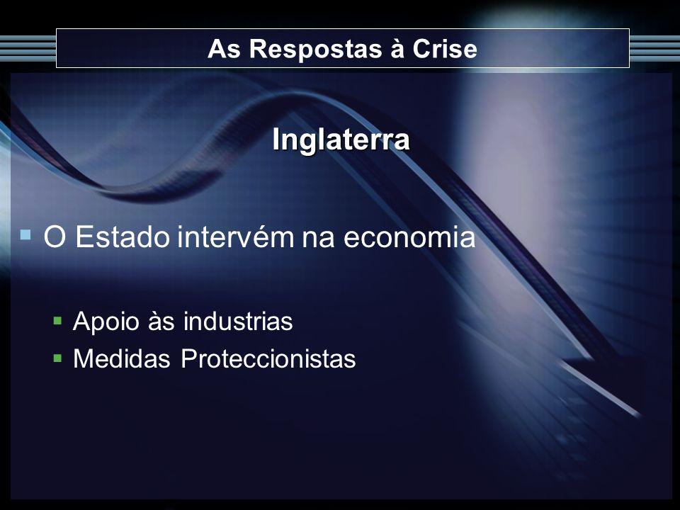 O Estado intervém na economia