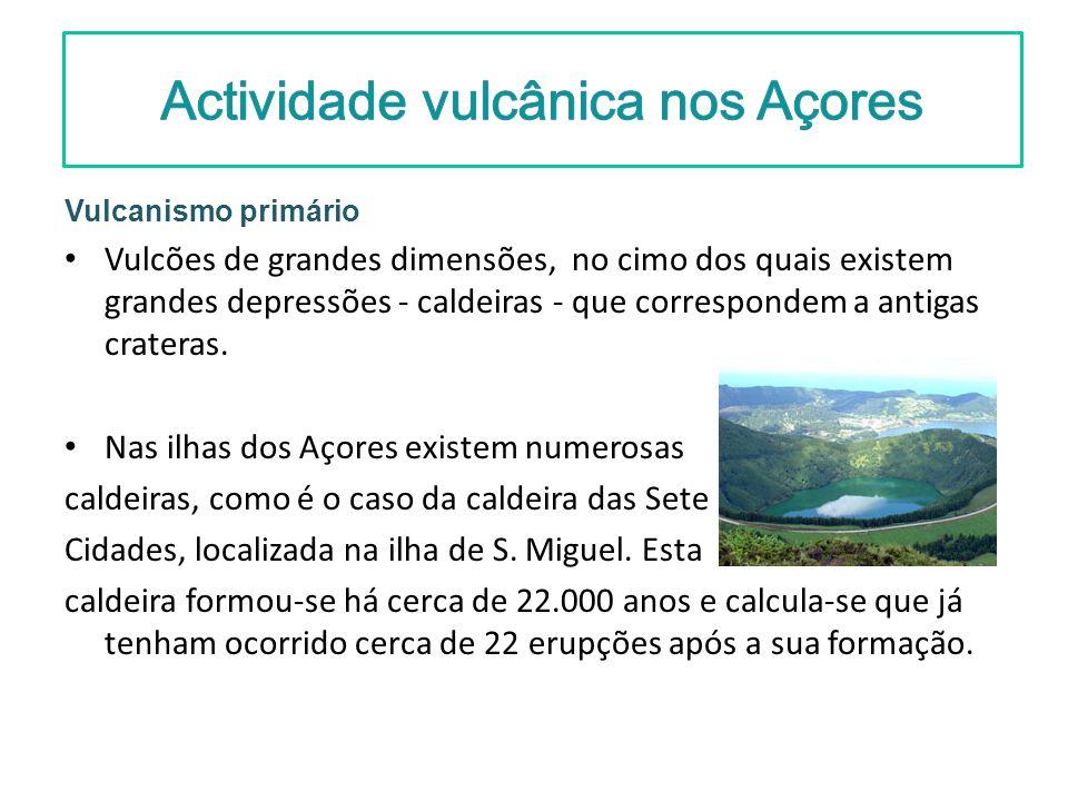 Actividade vulcânica nos Açores