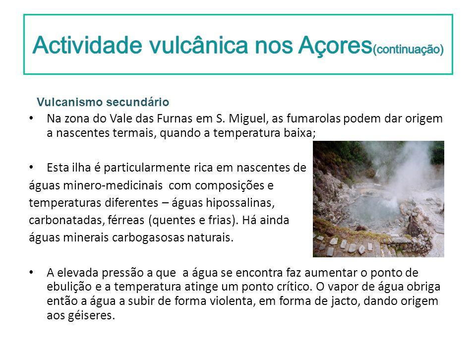 Actividade vulcânica nos Açores(continuação)