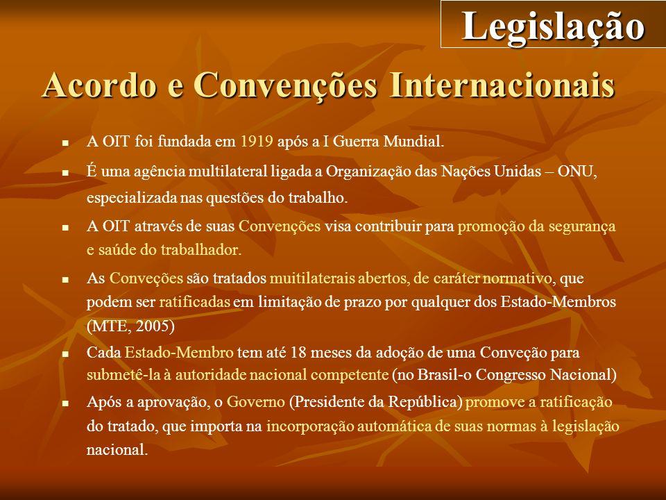 Acordo e Convenções Internacionais