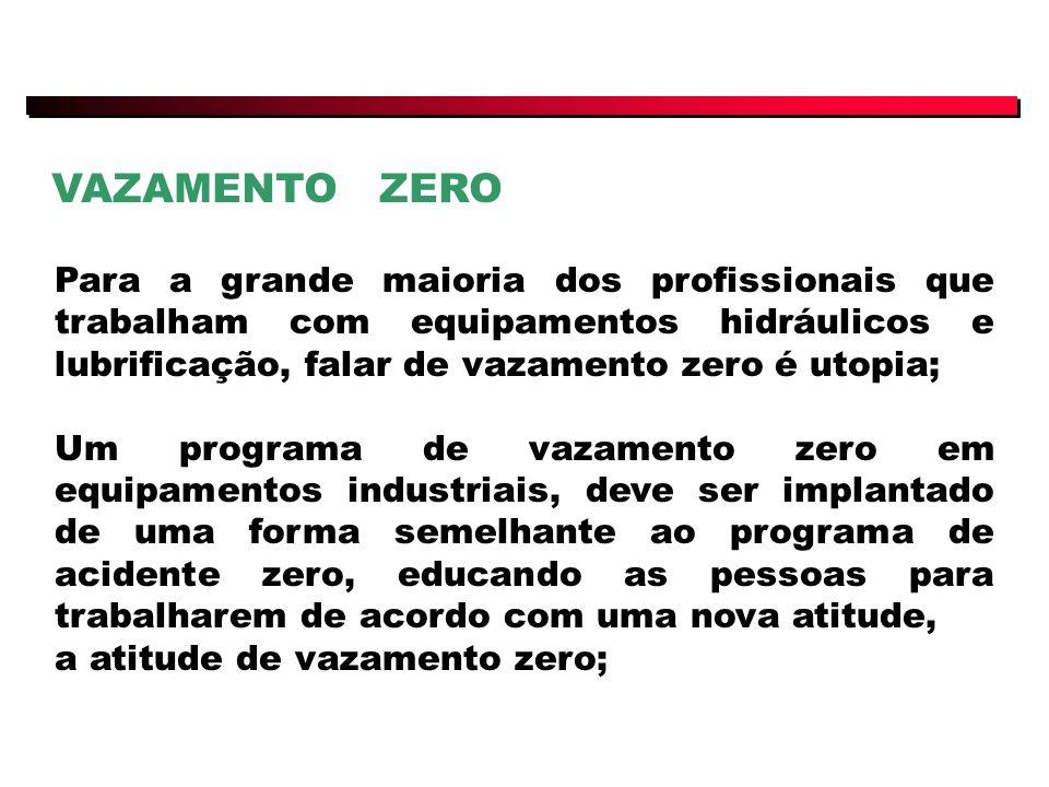 VAZAMENTO ZERO Para a grande maioria dos profissionais que trabalham com equipamentos hidráulicos e lubrificação, falar de vazamento zero é utopia;
