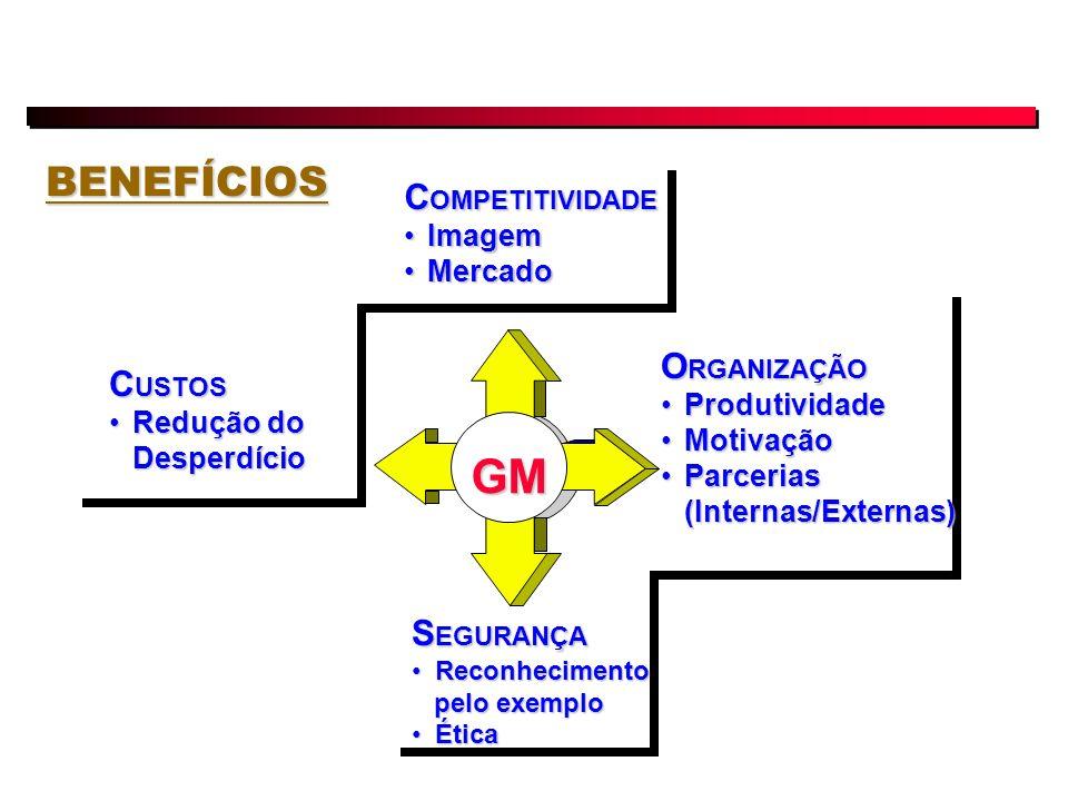 GM BENEFÍCIOS COMPETITIVIDADE ORGANIZAÇÃO CUSTOS SEGURANÇA Imagem