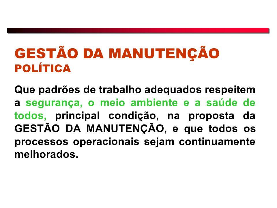 GESTÃO DA MANUTENÇÃO POLÍTICA