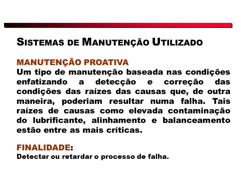 SISTEMAS DE MANUTENÇÃO UTILIZADO