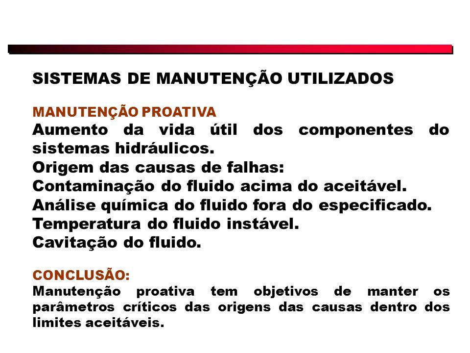SISTEMAS DE MANUTENÇÃO UTILIZADOS