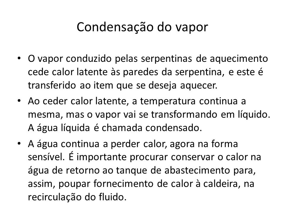 Condensação do vapor