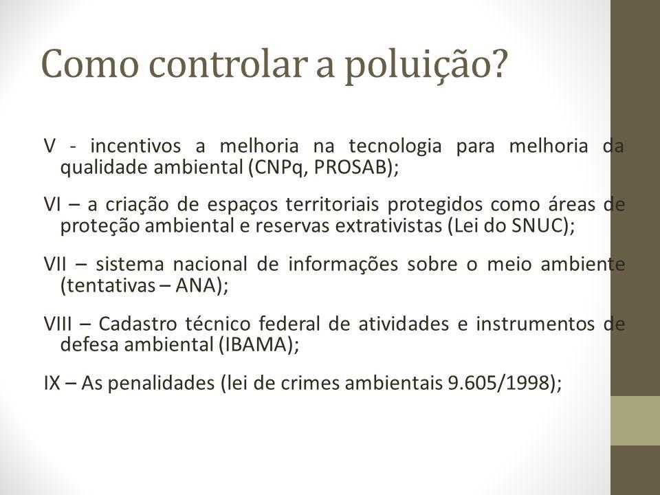 Como controlar a poluição