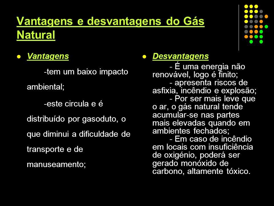 Vantagens e desvantagens do Gás Natural