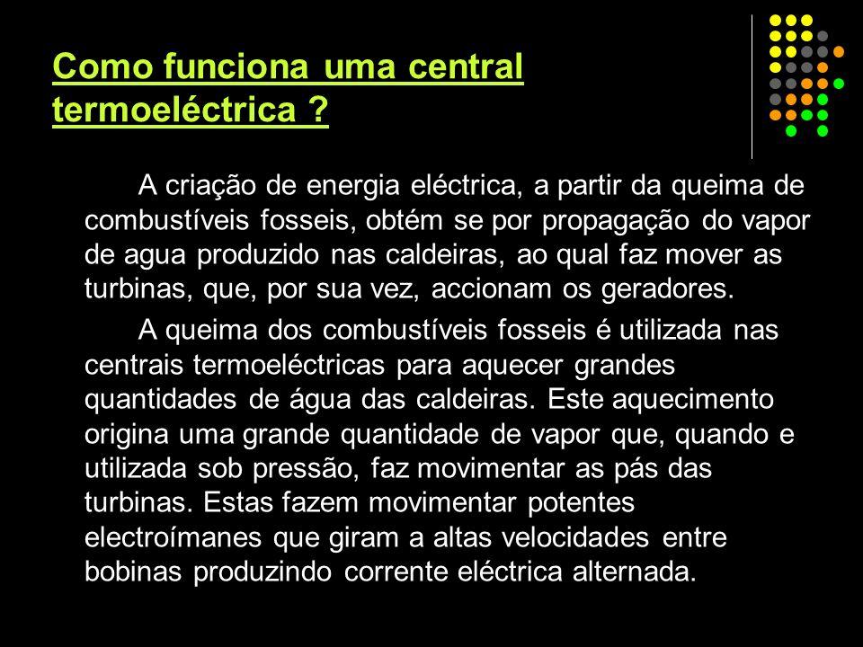 Como funciona uma central termoeléctrica