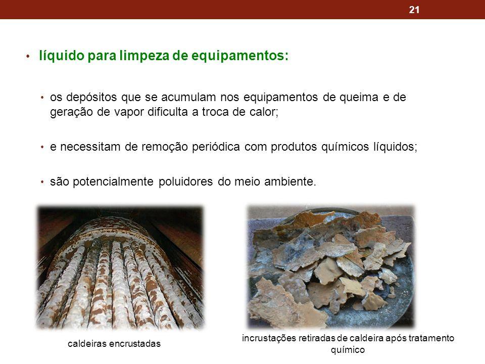 incrustações retiradas de caldeira após tratamento químico