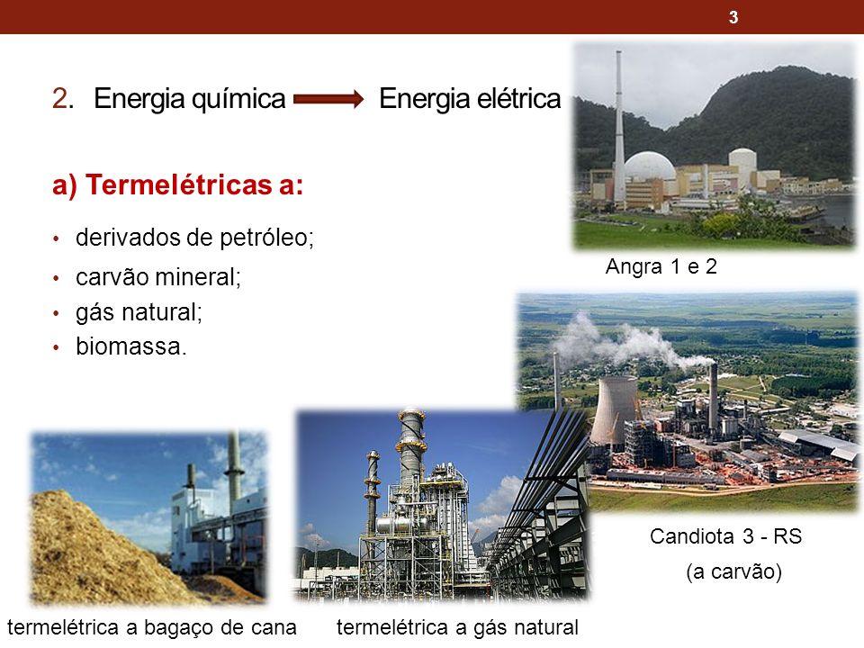 2. Energia química Energia elétrica
