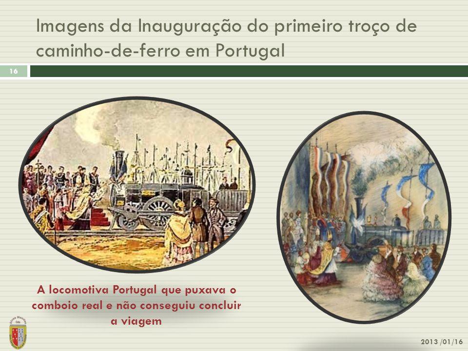 Imagens da Inauguração do primeiro troço de caminho-de-ferro em Portugal