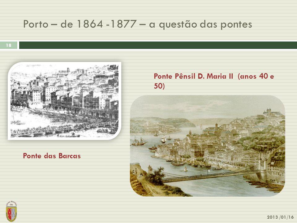 Porto – de 1864 -1877 – a questão das pontes