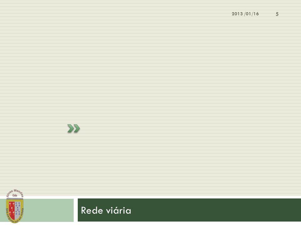 2013 /01/16 Rede viária