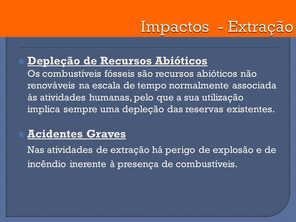 Impactos - Extração Depleção de Recursos Abióticos.
