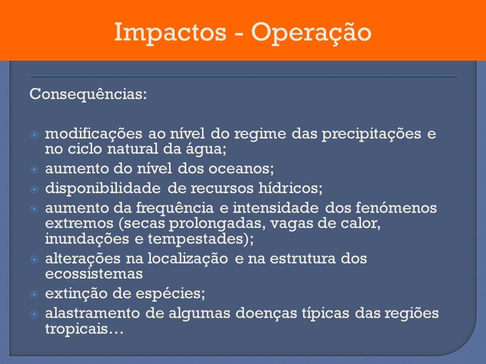Impactos - Operação Consequências: