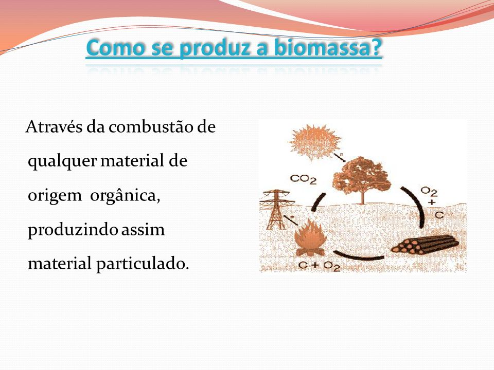 Como se produz a biomassa