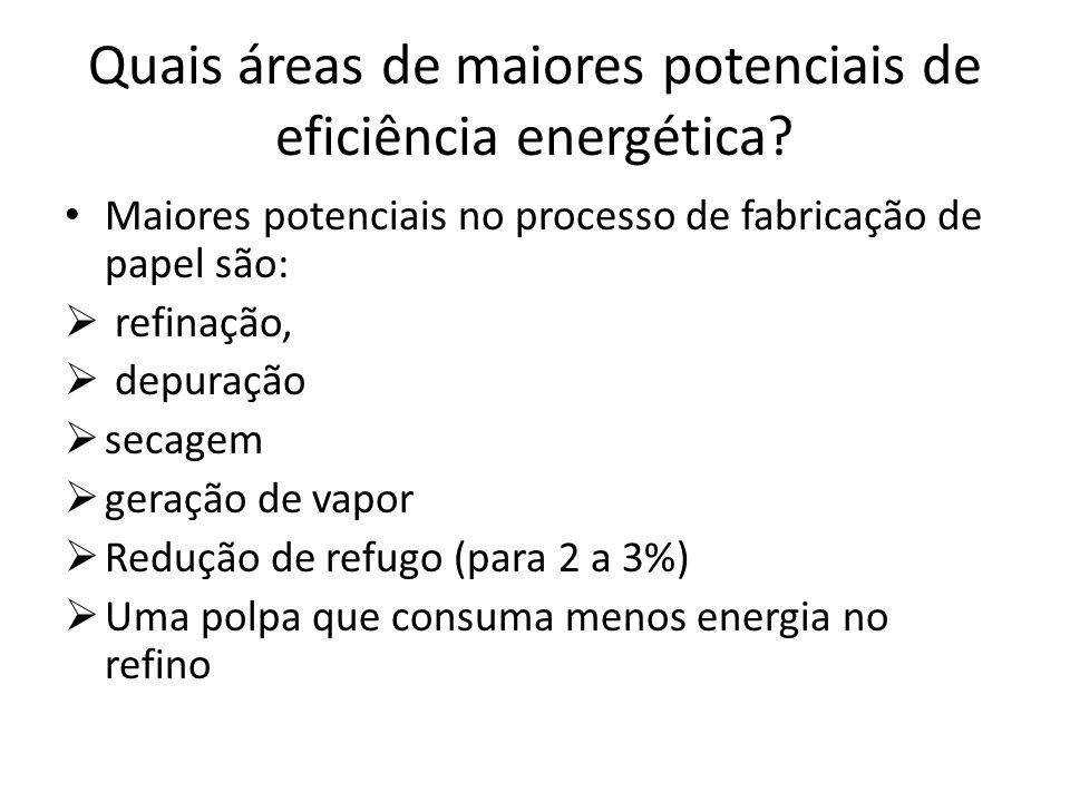 Quais áreas de maiores potenciais de eficiência energética