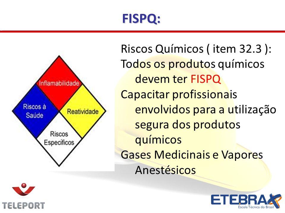 FISPQ: Riscos Químicos ( item 32.3 ):