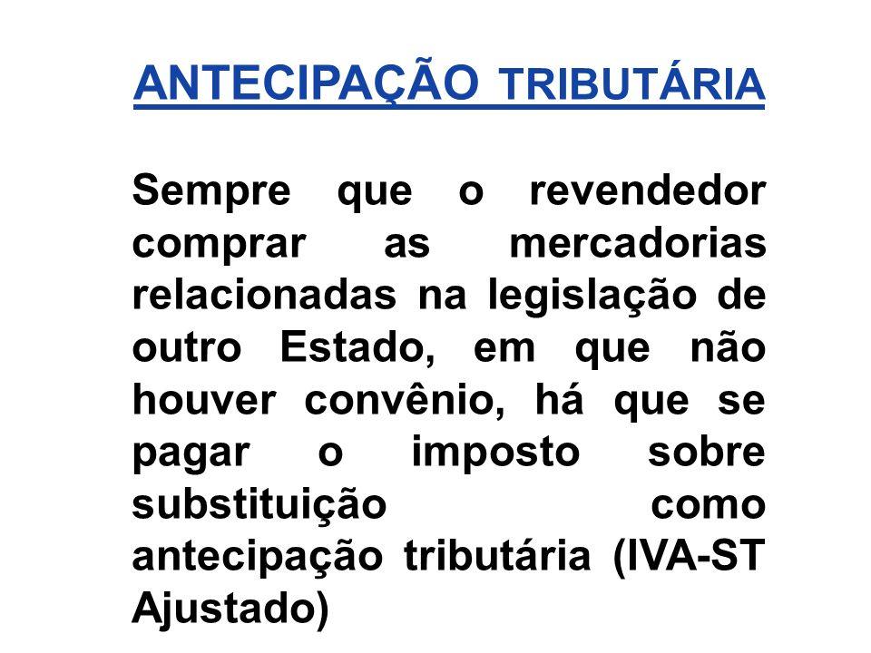 ANTECIPAÇÃO TRIBUTÁRIA