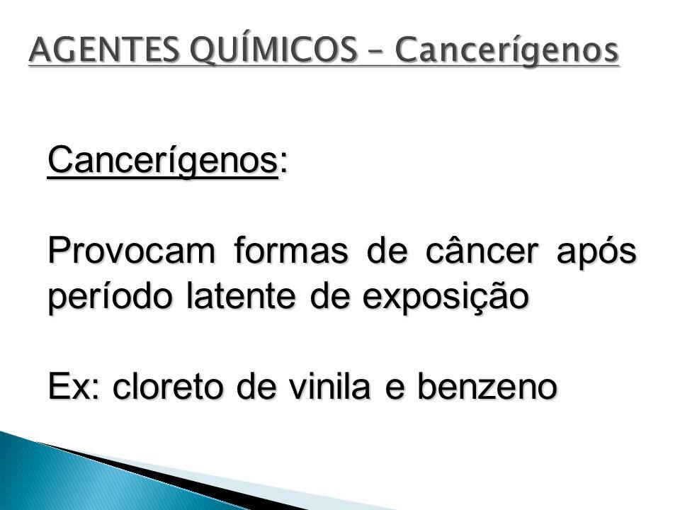 AGENTES QUÍMICOS – Cancerígenos