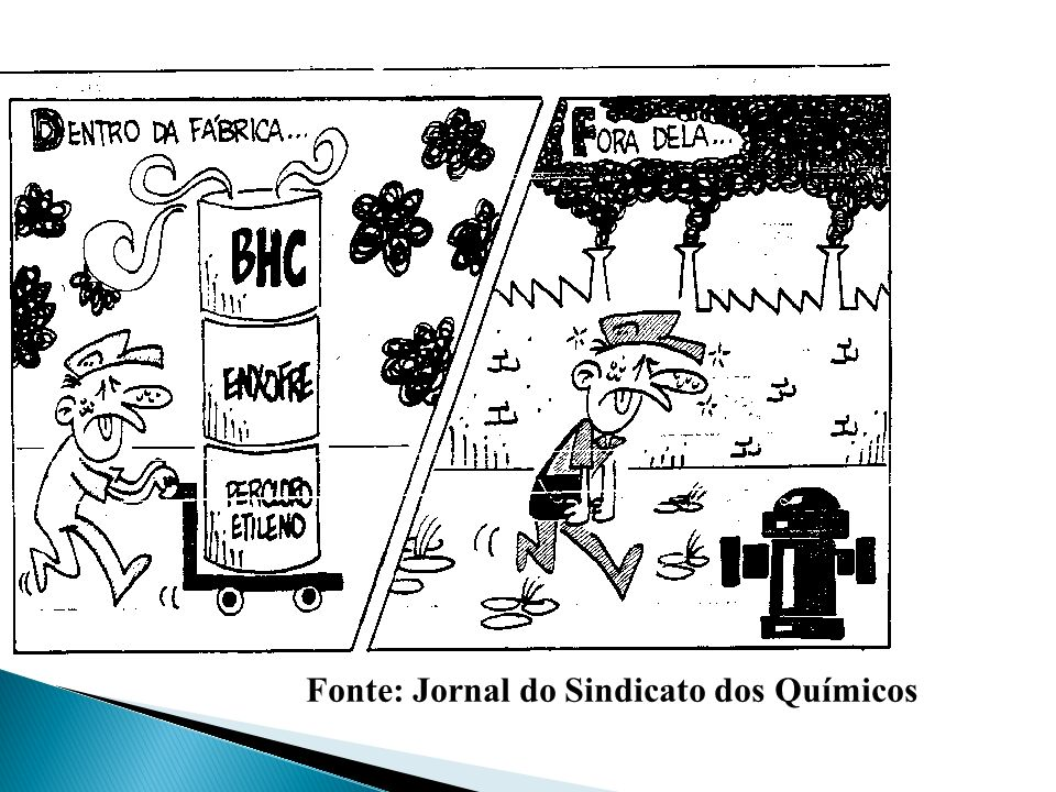 Fonte: Jornal do Sindicato dos Químicos
